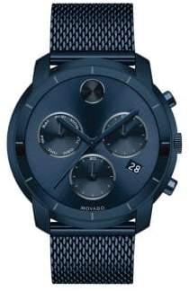 Movado Men's Ionic Plated Steel Chronograph Watch - Black Blue