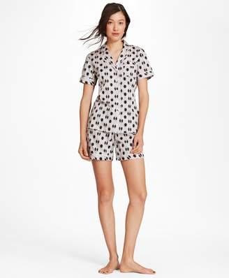 Brooks Brothers Daisy-Print Supima Cotton Poplin Pajamas