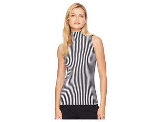 Kenneth Cole New York Striped Mock Sweater