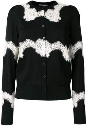 Dolce & Gabbana floral lace inserts cardigan