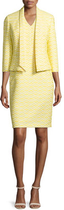 Albert Nipon Jacquard Jacket & Matching Sheath Dress Set $237 thestylecure.com