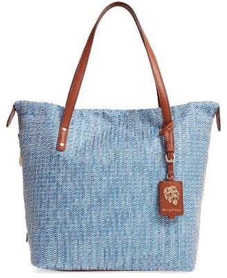 Tommy Bahama Woven Tote - Blue $118 thestylecure.com