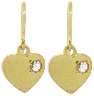 Irene Neuwirth Charity Charm Heart Earrings - Yellow Gold