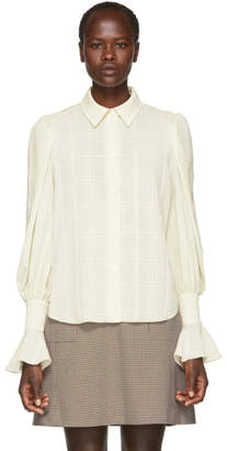 See by Chloe Off-White Ruffle Cuff Shirt