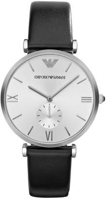 Emporio Armani Men's Retro AR1674 Leather Analog Quartz Watch