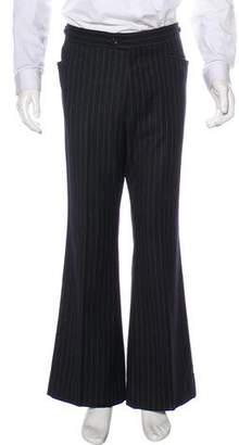 Gucci Striped Wool Wide-Leg Pants