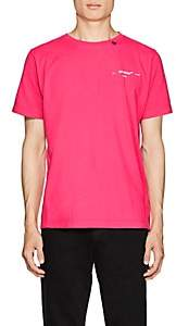 Off-White Men's Logo Cotton T-Shirt-Pink
