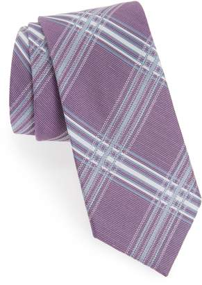 The Tie Bar KP Plaid Silk & Linen Tie