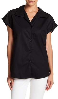 TOV Short Sleeve Button Up Tailored Shirt