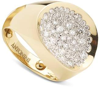 Antonini 18K Yellow Gold Large Matera Pavé Silvermist Diamond Ring