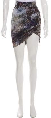 Helmut Lang Drape-Accented Mini Skirt