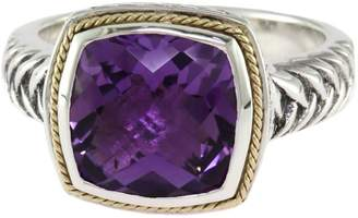 Effy 18K Yellow Gold Sterling Silver Amethyst Ring