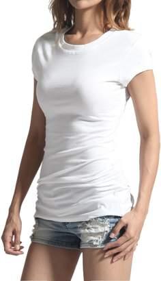 TheMogan Women's Round Crew Neck Short Sleeve T-Shirts Cotton Tee