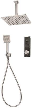 Triton HOME Digital Mixer Shower With Diverter, Square Wall Outlet And Square Fixed Drencher Head - Pumped