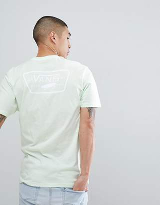 Vans Full Patch T-Shirt With Back Print In Green VA3H5KPE6