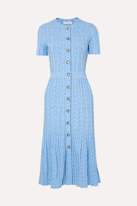 Altuzarra Abelia Ribbed-knit Midi Dress - Blue