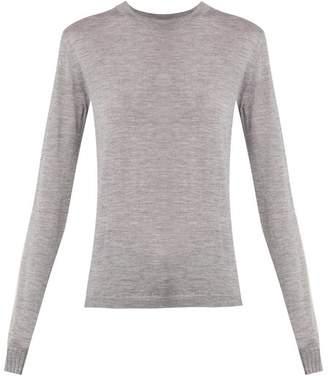 Saint Laurent Raw Hem Washed Sweatshirt - Womens - Grey