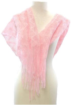 Diane's Accessories Glittery Pink Shawl