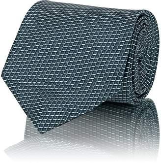 Brioni Men's Mini-Box-Print Silk Satin Necktie