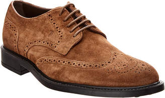 Tod's Brogue Suede Lace-Up Loafer