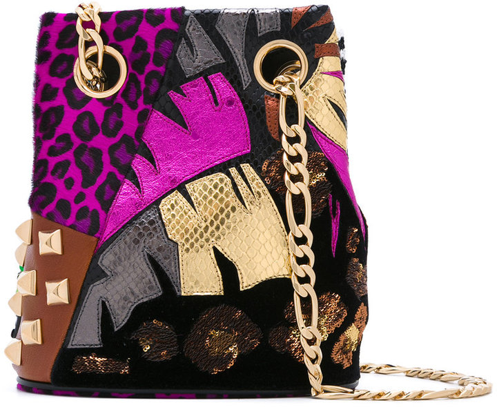Marc Jacobs Marc Jacobs multi-pattern shoulder bag