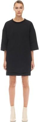 MM6 MAISON MARGIELA Oversized Cotton & Satin Mini Dress