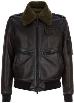 Bottega Veneta Leather Aviator Jacket
