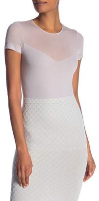 Wolford Mesh Panel Short Sleeve Shirt