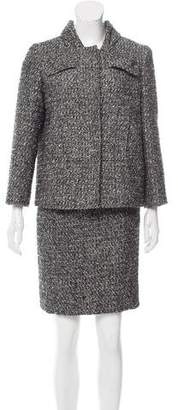 Oscar de la Renta Wool Tweed Skirt Suit