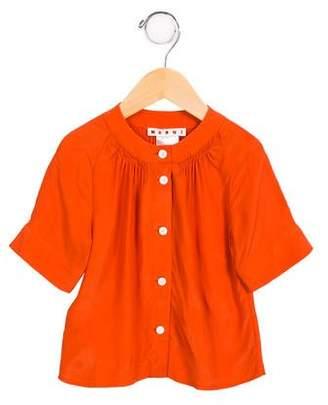 Marni Girls' Silk-Blend Button-Up Top