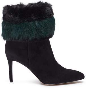 Sam Edelman 'Oleana' faux fur cuff suede ankle boots
