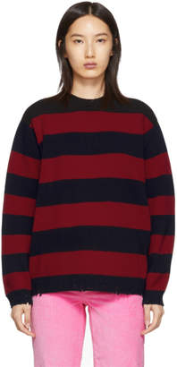 Marc Jacobs Red The Grunge Crewneck Sweater