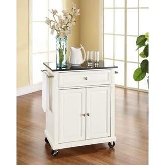 Crosley Generic Furniture Solid Black Granite Top Portable Kitchen Cart