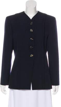 Valentino Collarless Wool Blazer