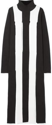 Marques Almeida Marques' Almeida - Cutout Striped Merino Wool Maxi Dress - Black