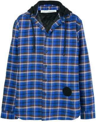 Off-White check print lightweight jacket