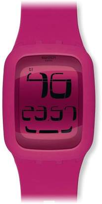 Swatch Men's SURP100 Quartz Anti-Reflective Sapphire Crystal Pink Watch