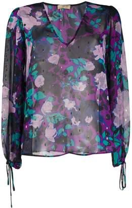 Liu Jo sheer floral-print blouse