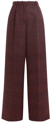 Sonia Rykiel Printed Alpaca-Virgin Wool Wide Leg Pants