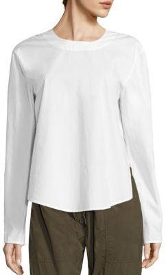 DKNY Slit Back Cotton Top