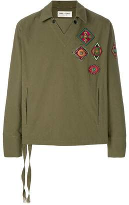 Saint Laurent embroidered tunic