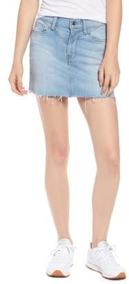Hudson Front Yoke Raw Hem Miniskirt