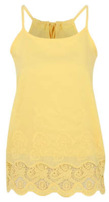 Bell George Yellow Embellished Trim Vest Top