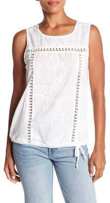 Democracy Embroidered Tank Top