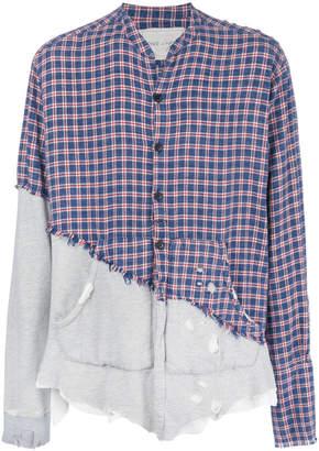 Greg Lauren double design distressed shirt