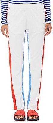 Tory Sport Women's Colorblocked Piqué-Knit Track Pants-WHITE $135 thestylecure.com