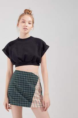 Urban Outfitters Mixed Plaid Mini Skirt