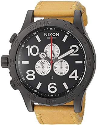 Nixon Men's '51-30 Chrono' Quartz Metal and Leather Watch