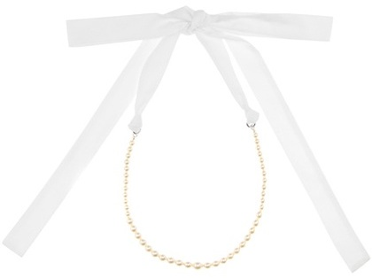 Miu MiuMiu Miu Faux Pearl-embellished Necklace
