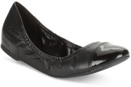 Cole Haan Cortland Patent Leather & Leather Cap Toe Flats